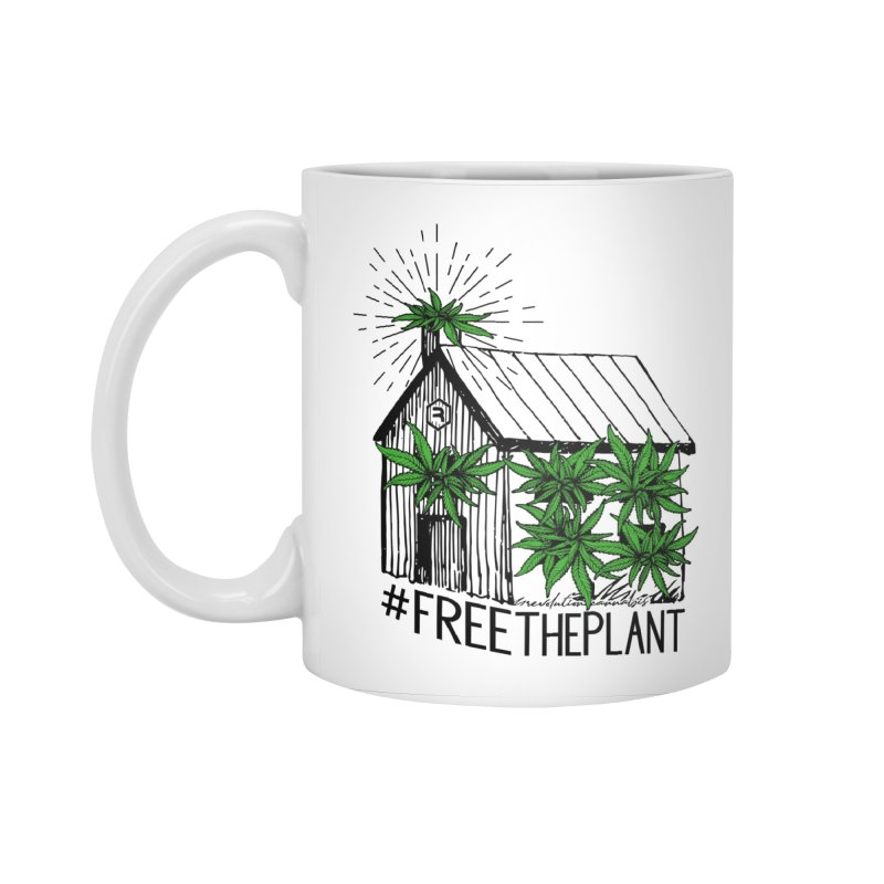 #FreeThePlant Accessories Standard Mug by RevolutionTradingCo