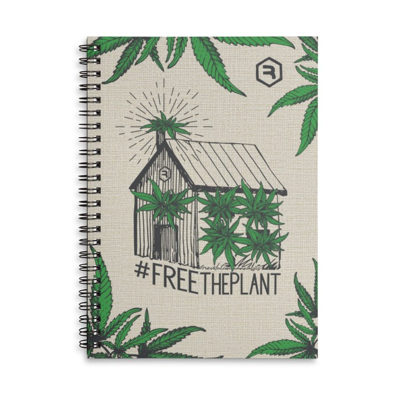 #FreeThePlant Accessories Lined Spiral Notebook by RevolutionTradingCo