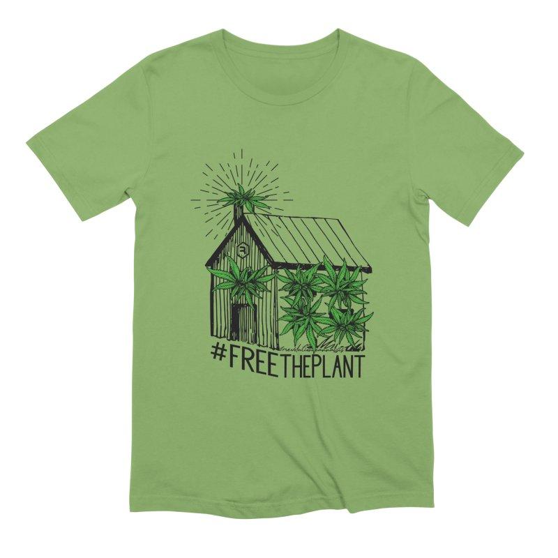 #FreeThePlant in Men's Extra Soft T-Shirt Avocado by RevolutionTradingCo