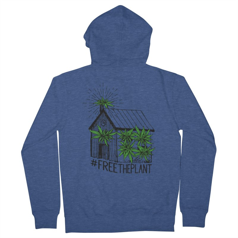 #FreeThePlant in Women's French Terry Zip-Up Hoody Heather Royal by RevolutionTradingCo