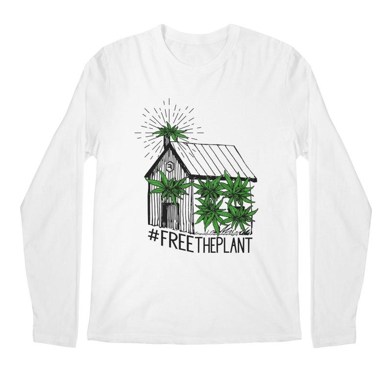 #FreeThePlant in Men's Regular Longsleeve T-Shirt White by RevolutionTradingCo