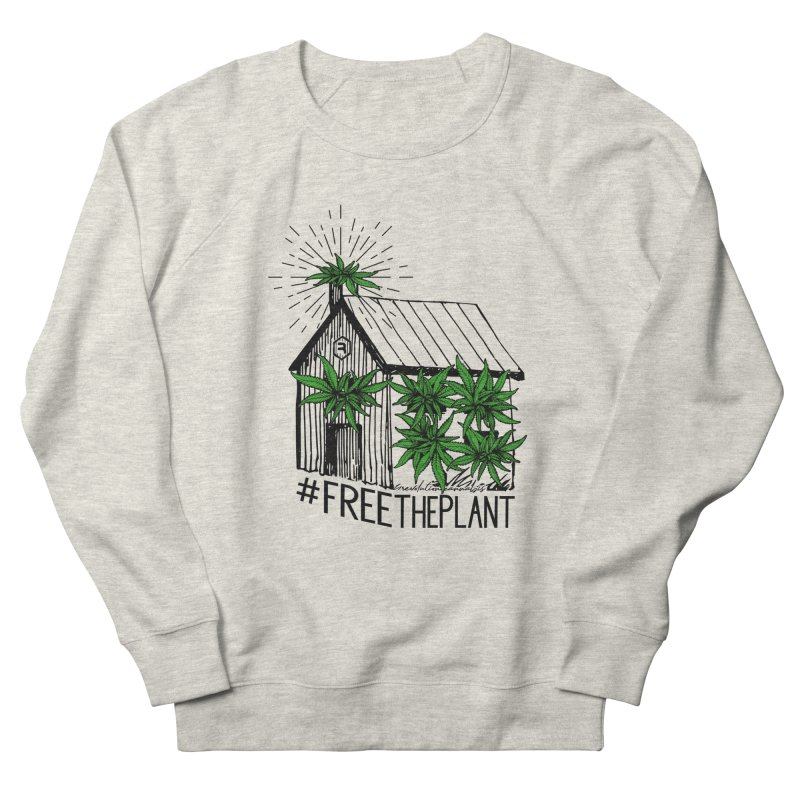 #FreeThePlant in Women's French Terry Sweatshirt Heather Oatmeal by RevolutionTradingCo
