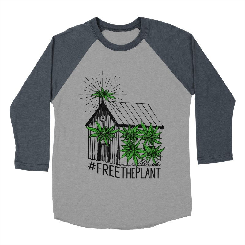 #FreeThePlant Men's Baseball Triblend Longsleeve T-Shirt by RevolutionTradingCo