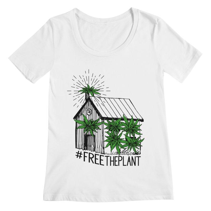 #FreeThePlant Women's Regular Scoop Neck by RevolutionTradingCo