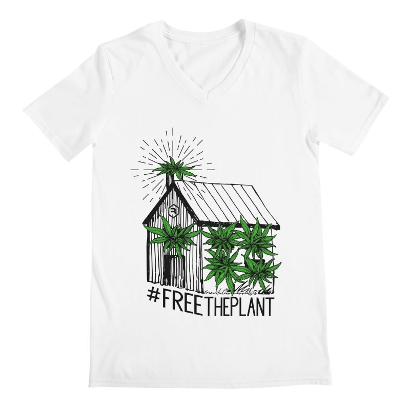#FreeThePlant Men's V-Neck by RevolutionTradingCo
