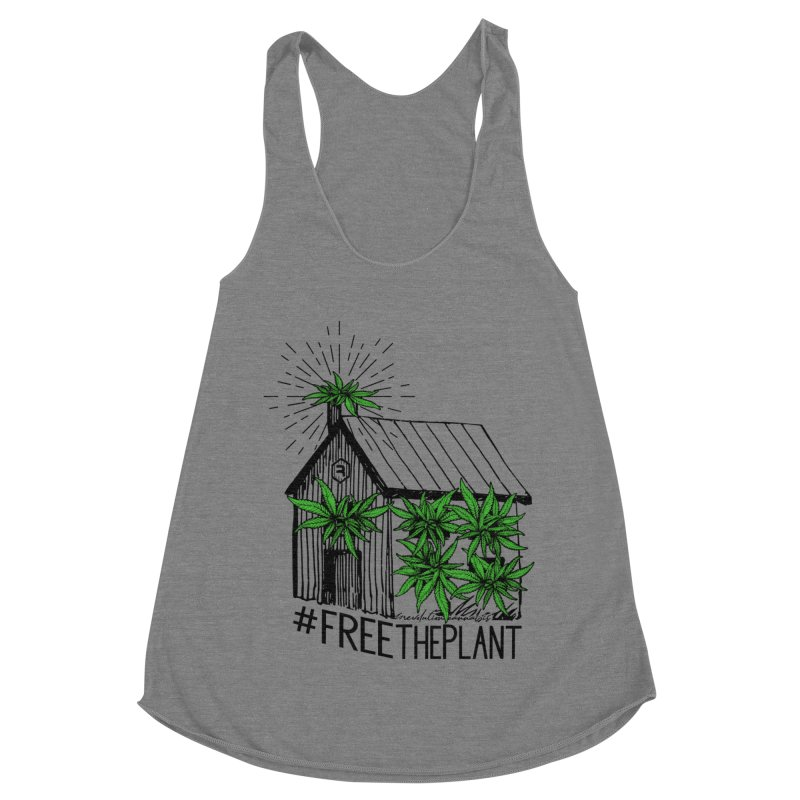 #FreeThePlant Women's Racerback Triblend Tank by RevolutionTradingCo