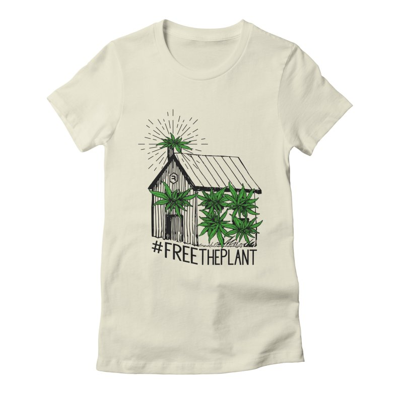 #FreeThePlant Women's Fitted T-Shirt by RevolutionTradingCo