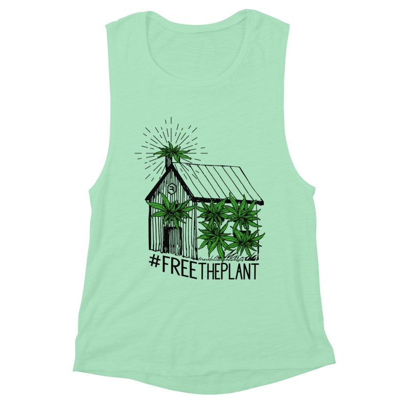 #FreeThePlant Women's Muscle Tank by RevolutionTradingCo