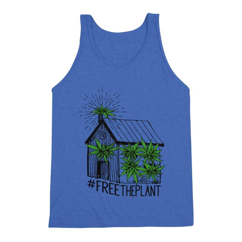 #FreeThePlant Men's Triblend Tank by RevolutionTradingCo