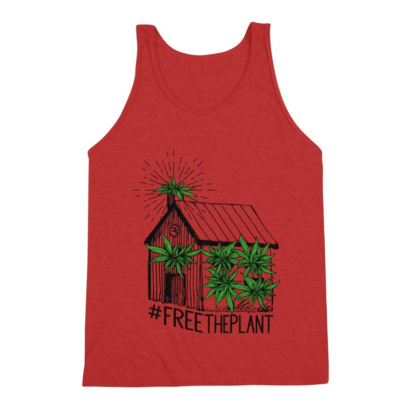 #FreeThePlant Men's Triblend Tank by RevolutionTradingCo