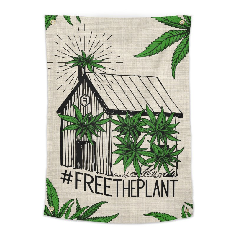 #FreeThePlant Home Tapestry by RevolutionTradingCo