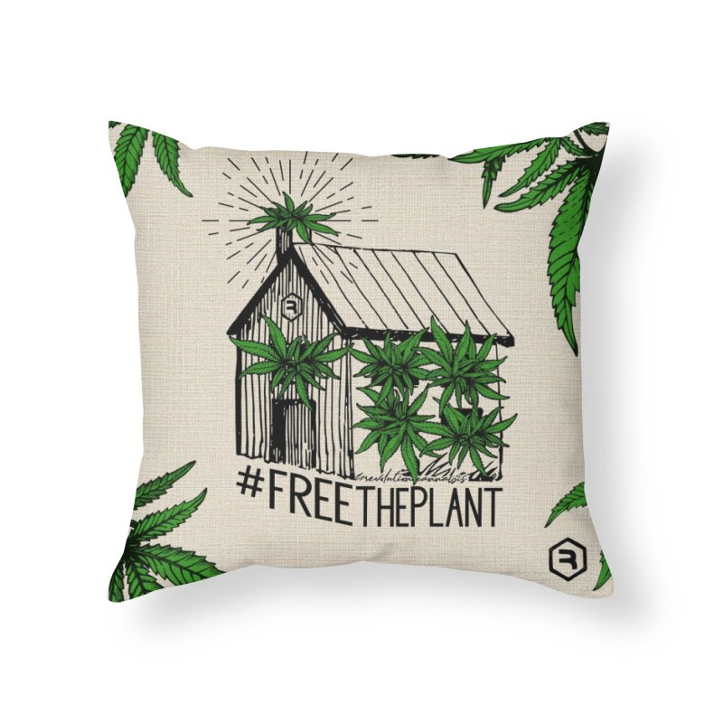 #FreeThePlant Home Throw Pillow by RevolutionTradingCo