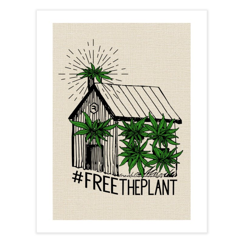 #FreeThePlant Home Fine Art Print by RevolutionTradingCo