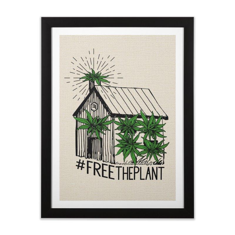 #FreeThePlant Home Framed Fine Art Print by RevolutionTradingCo