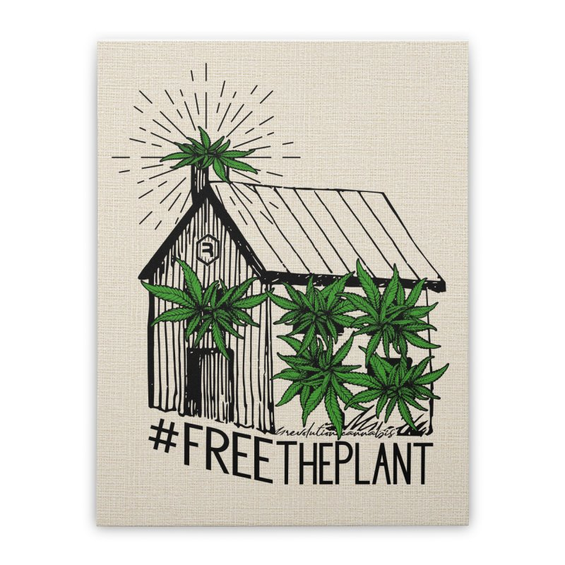 #FreeThePlant Home Stretched Canvas by RevolutionTradingCo