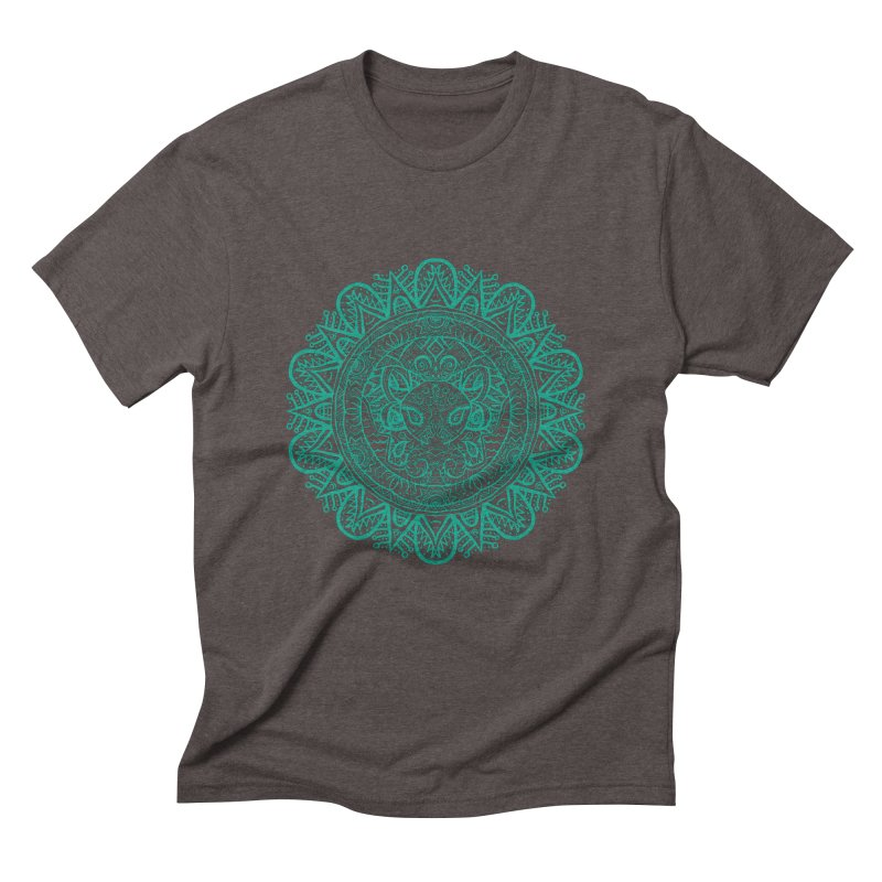 Elephant Zentangle Men's Triblend T-Shirt by Rhinb's Artist Shop