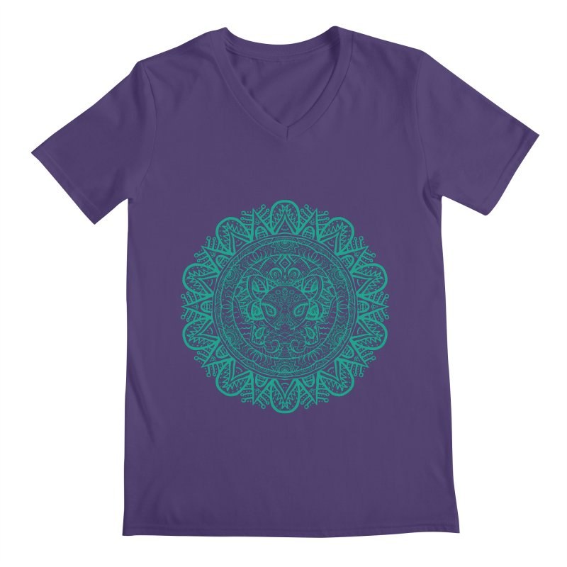 Elephant Zentangle Men's V-Neck by Rhinb's Artist Shop