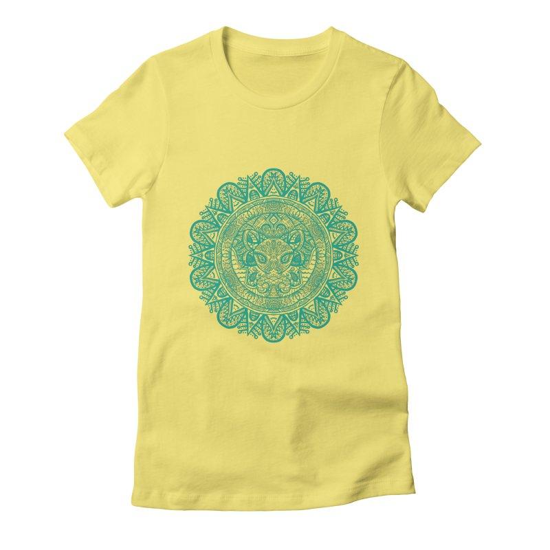 Elephant Zentangle Women's Fitted T-Shirt by Rhinb's Artist Shop