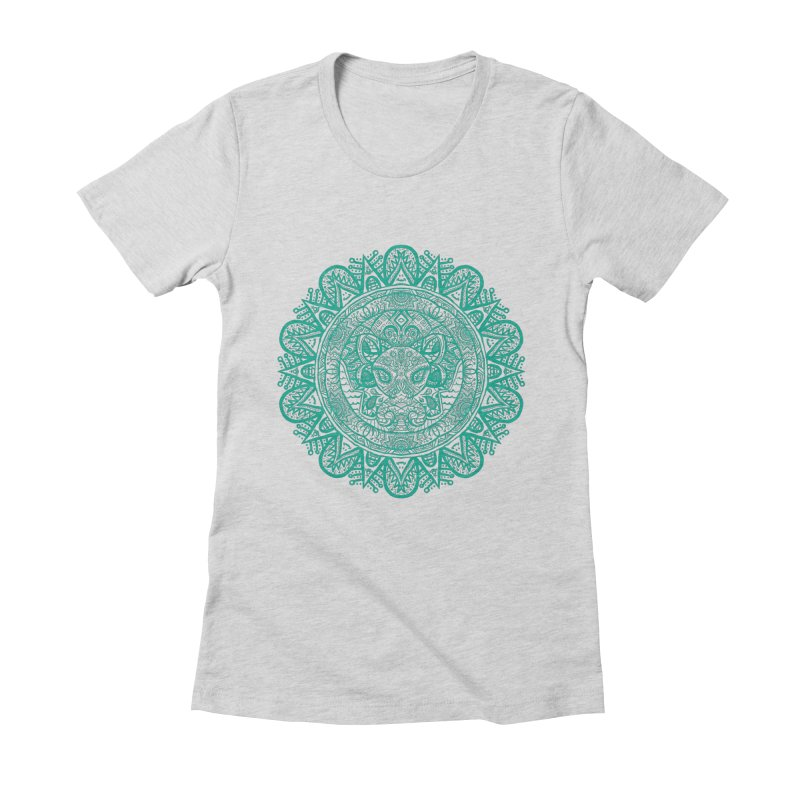Elephant Zentangle Women's Fitted T-Shirt by Rhinb's Artist Shop