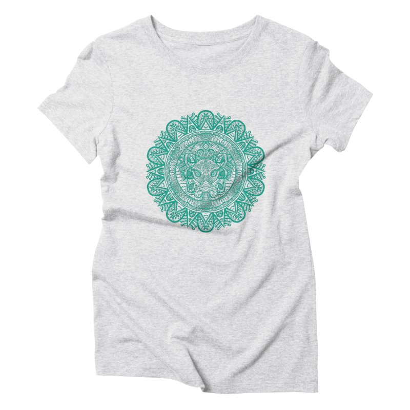 Elephant Zentangle Women's Triblend T-Shirt by Rhinb's Artist Shop