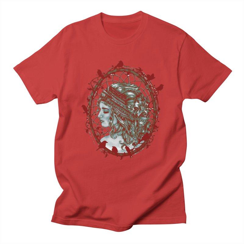 Bohemian Lady Cameo Men's T-Shirt by Rhinb's Artist Shop
