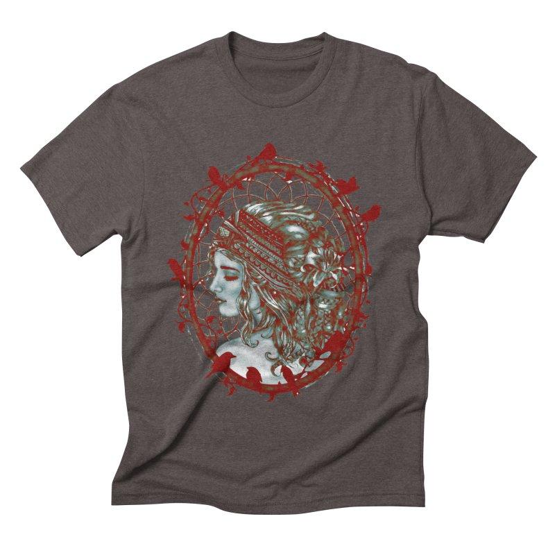 Bohemian Lady Cameo Men's Triblend T-shirt by Rhinb's Artist Shop