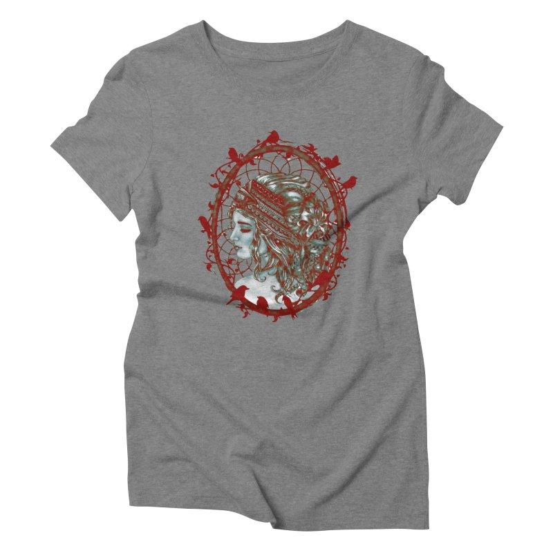 Bohemian Lady Cameo Women's Triblend T-shirt by Rhinb's Artist Shop