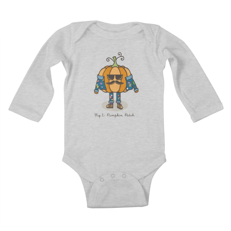 PUMPKIN PATCH Kids Baby Longsleeve Bodysuit by RiLi's Artist Shop