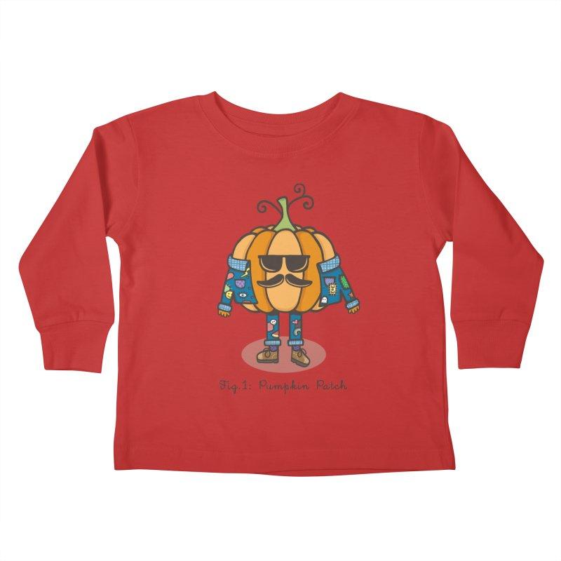 PUMPKIN PATCH Kids Toddler Longsleeve T-Shirt by RiLi's Artist Shop