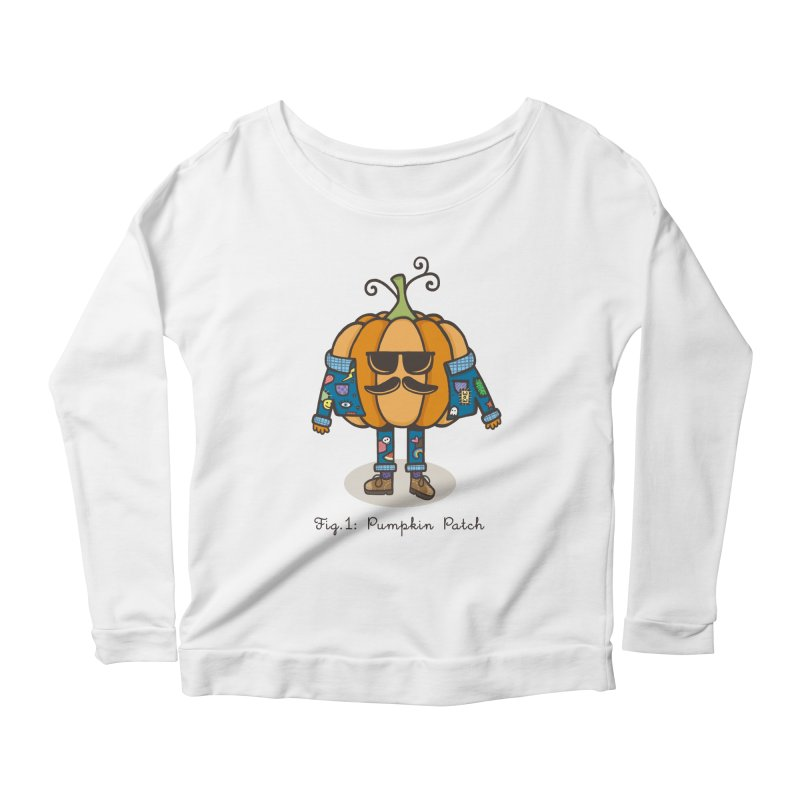 PUMPKIN PATCH Women's Longsleeve Scoopneck  by RiLi's Artist Shop