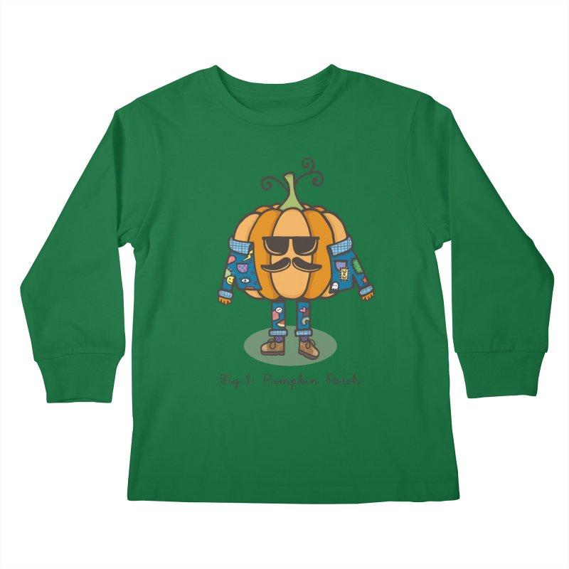 PUMPKIN PATCH Kids Longsleeve T-Shirt by RiLi's Artist Shop