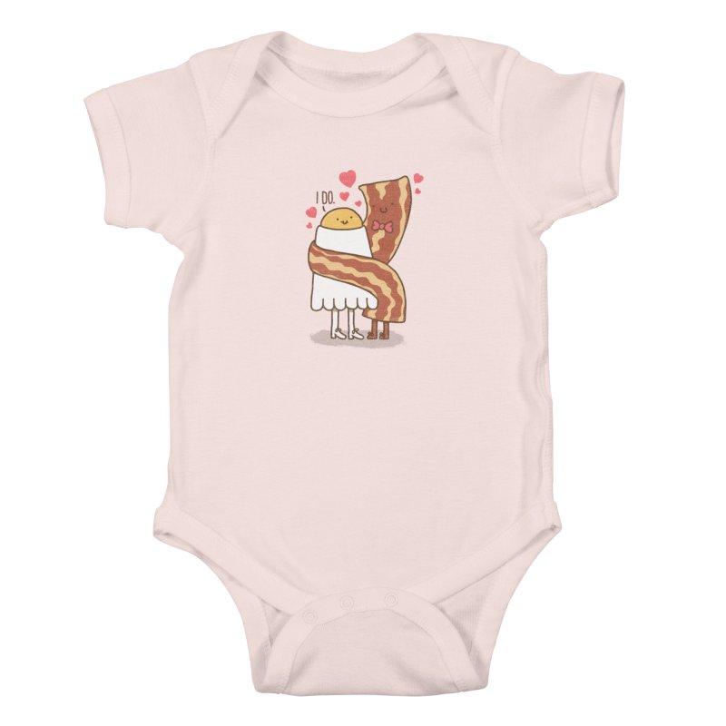 TILL LUNCH DO US PART Kids Baby Bodysuit by RiLi's Artist Shop