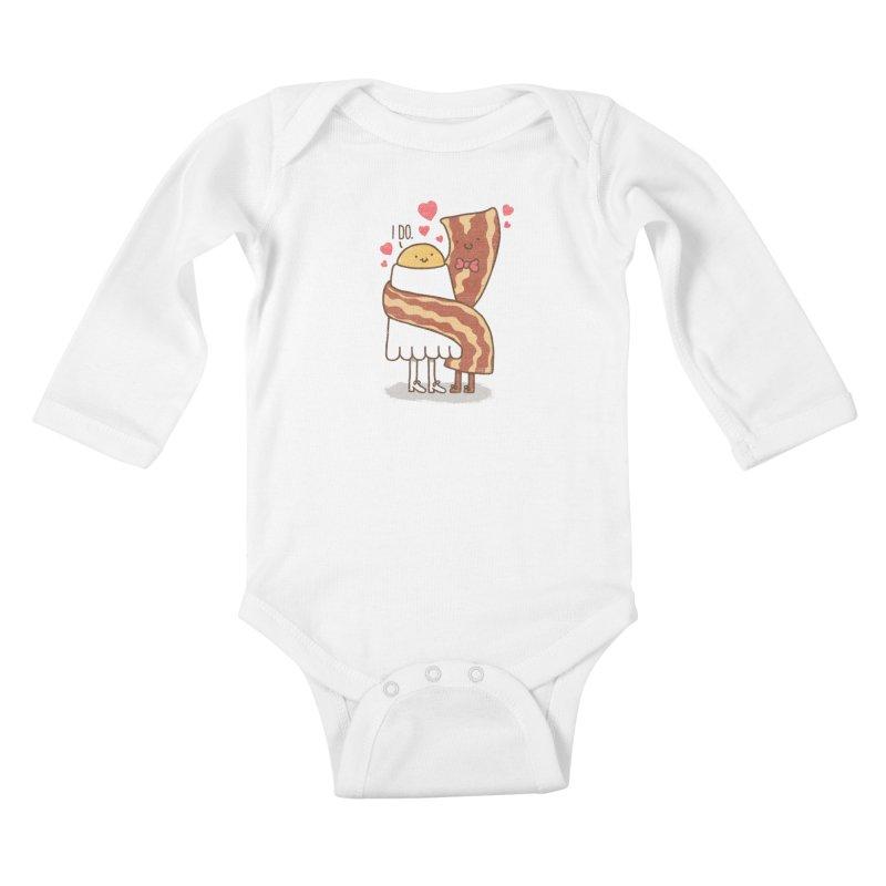 TILL LUNCH DO US PART Kids Baby Longsleeve Bodysuit by RiLi's Artist Shop