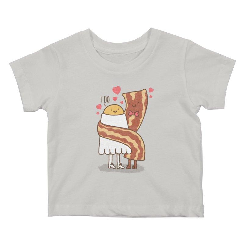 TILL LUNCH DO US PART Kids Baby T-Shirt by RiLi's Artist Shop