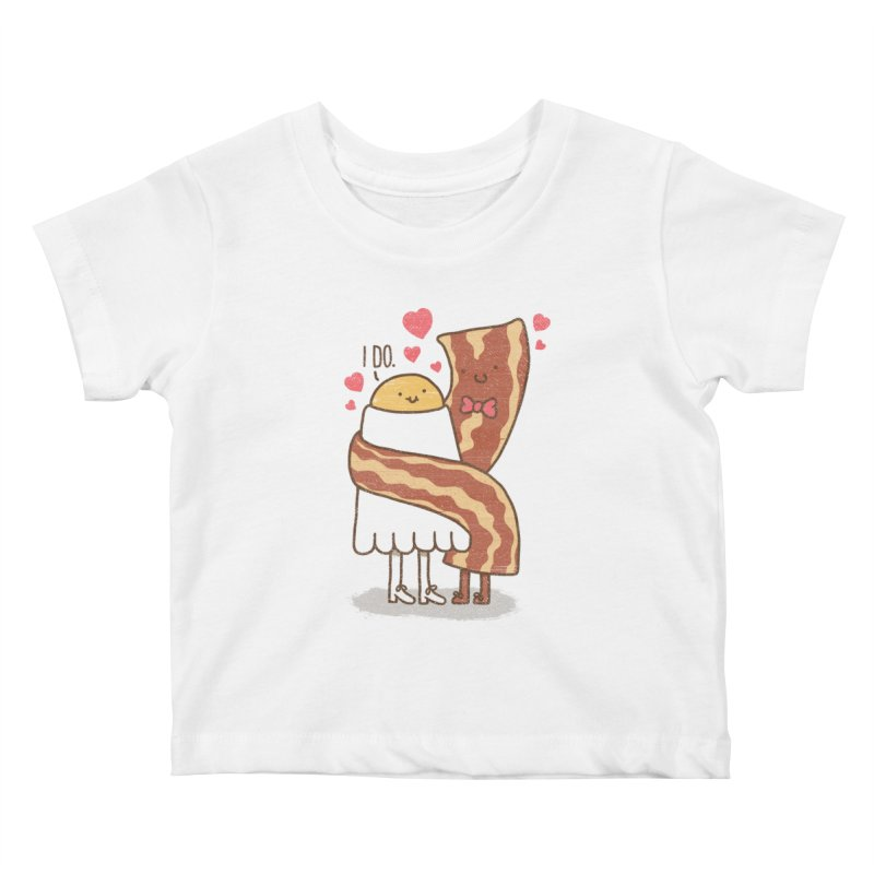 TILL LUNCH DO US PART Kids Baby T-Shirt by RiLi's Artist Shop
