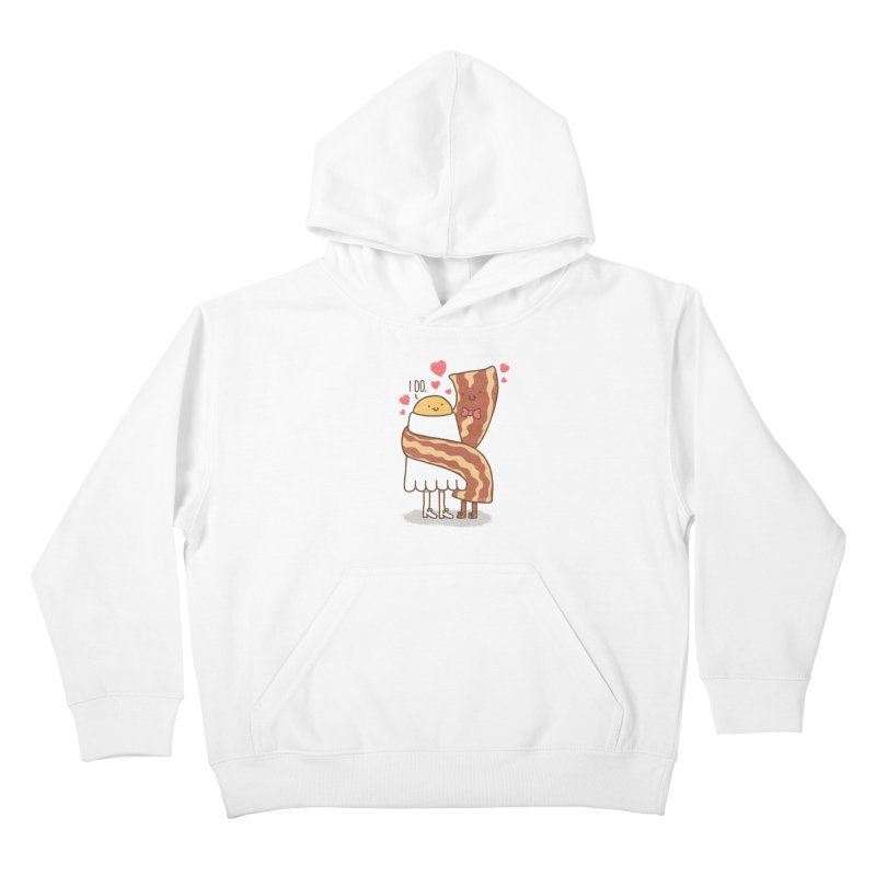 TILL LUNCH DO US PART Kids Pullover Hoody by RiLi's Artist Shop