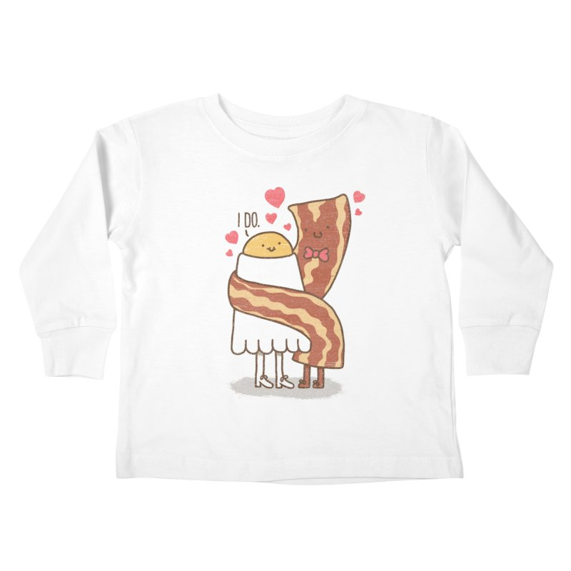 TILL LUNCH DO US PART Kids Toddler Longsleeve T-Shirt by RiLi's Artist Shop