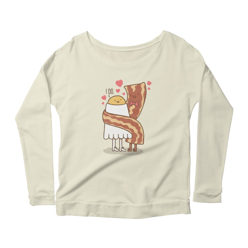 TILL LUNCH DO US PART Women's Longsleeve Scoopneck  by RiLi's Artist Shop