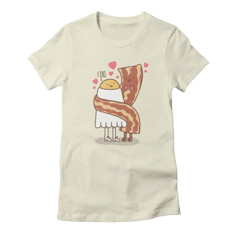 TILL LUNCH DO US PART Women's Fitted T-Shirt by RiLi's Artist Shop