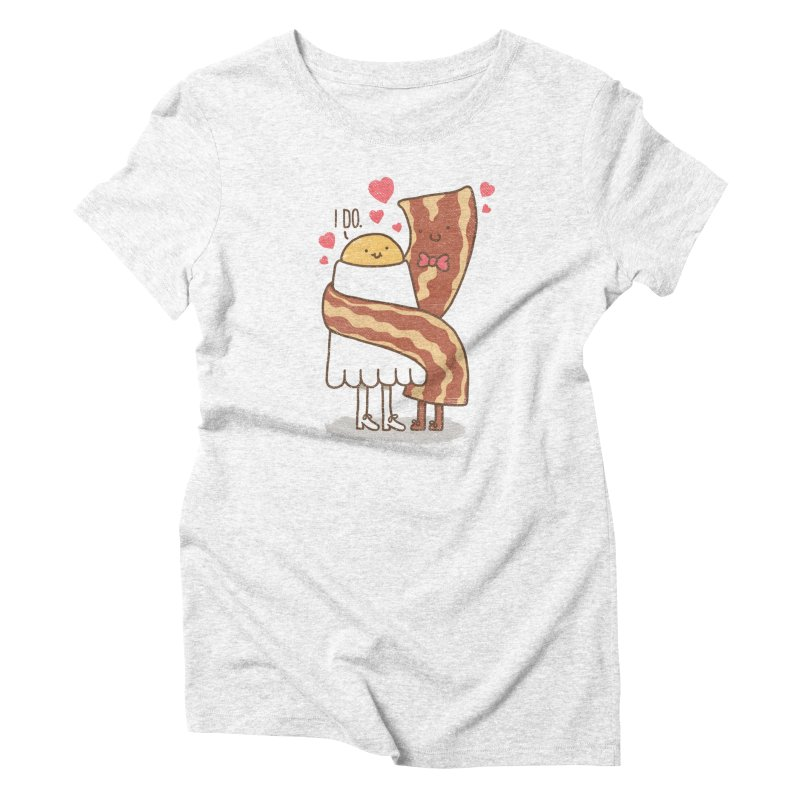 TILL LUNCH DO US PART Women's Triblend T-shirt by RiLi's Artist Shop