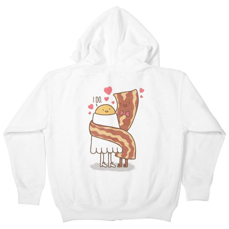 TILL LUNCH DO US PART Kids Zip-Up Hoody by RiLi's Artist Shop