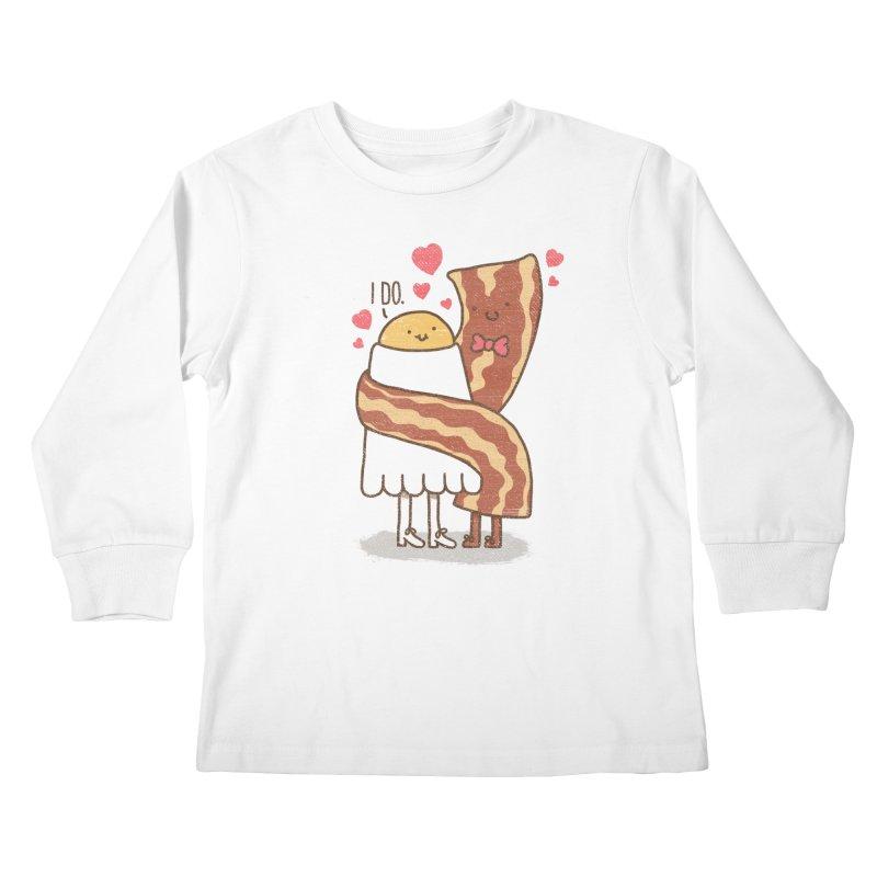 TILL LUNCH DO US PART Kids Longsleeve T-Shirt by RiLi's Artist Shop