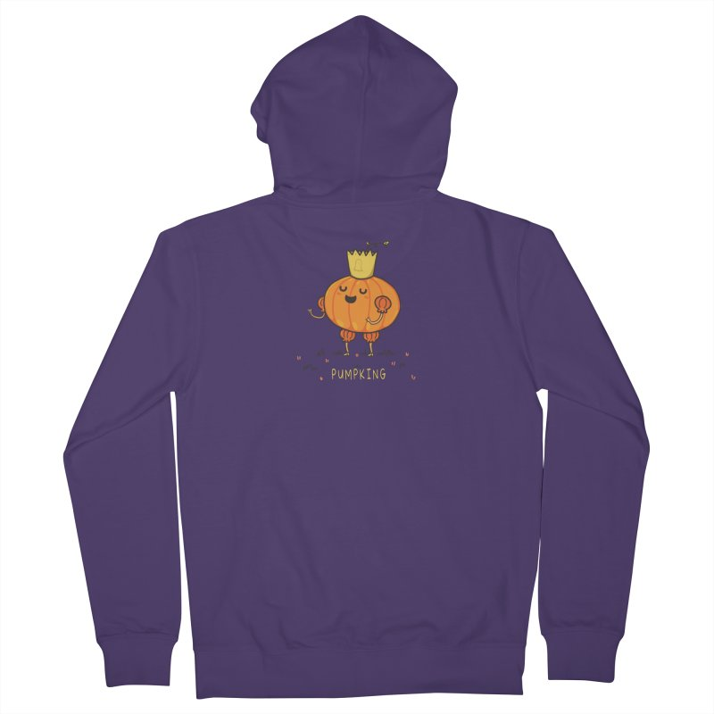 PUMPKING Women's French Terry Zip-Up Hoody by RiLi's Artist Shop