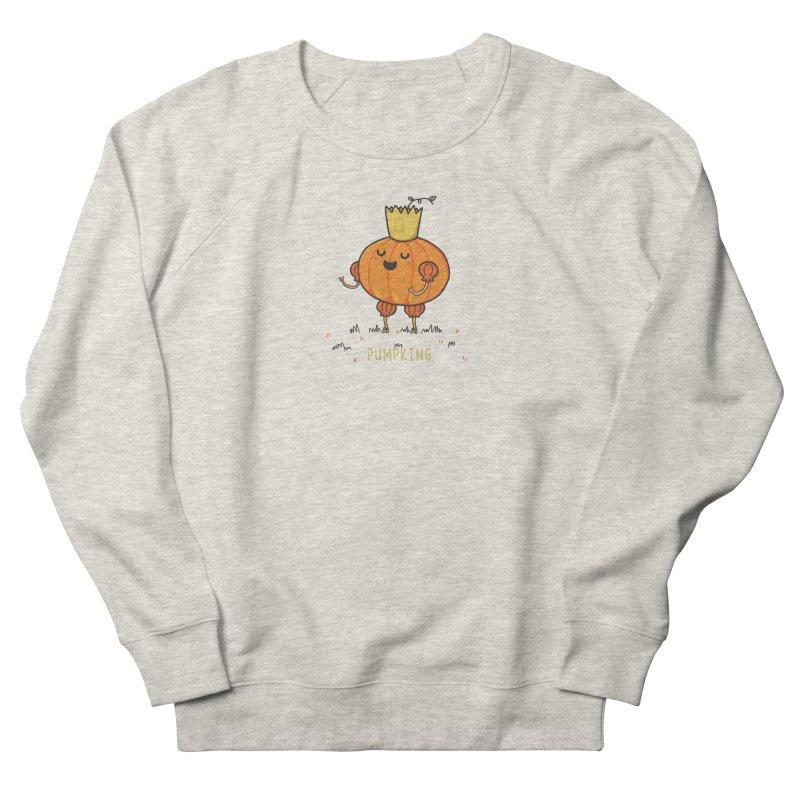 PUMPKING Men's French Terry Sweatshirt by RiLi's Artist Shop