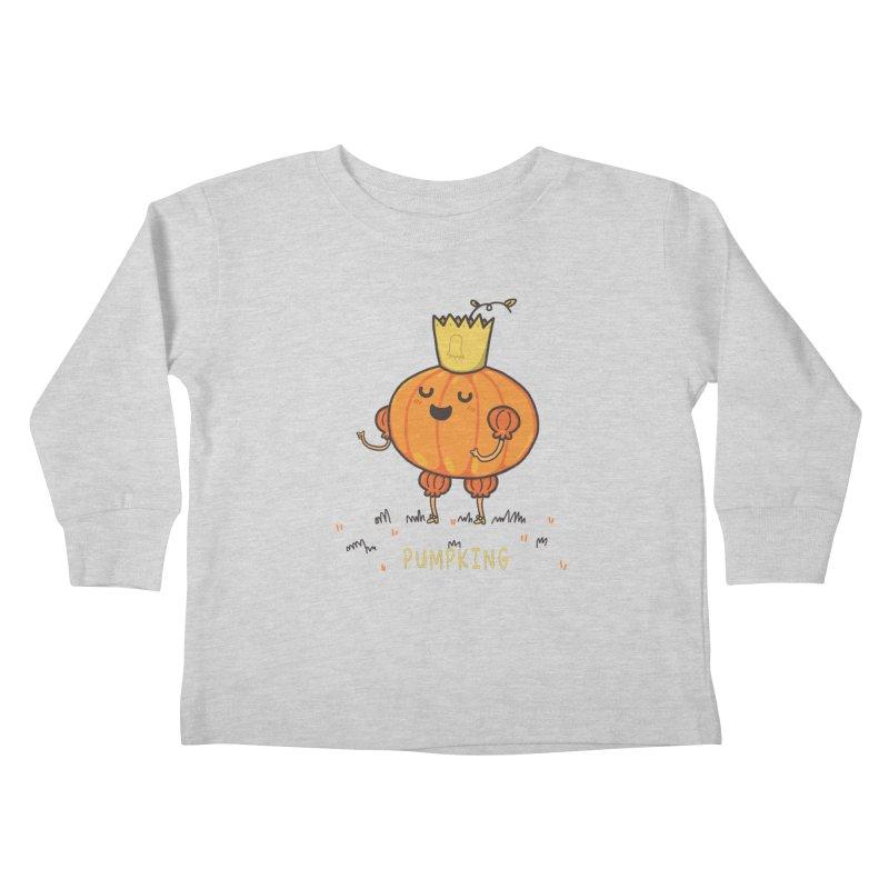 PUMPKING Kids Toddler Longsleeve T-Shirt by RiLi's Artist Shop