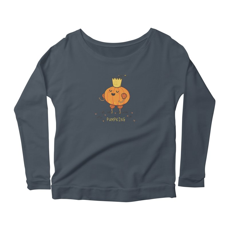 PUMPKING Women's Scoop Neck Longsleeve T-Shirt by RiLi's Artist Shop