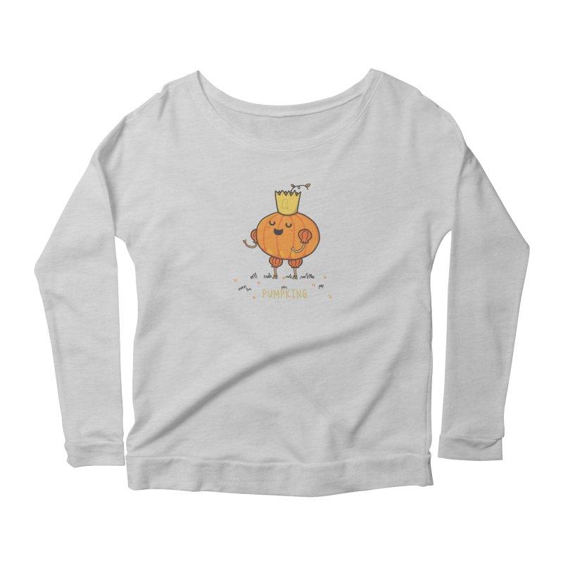 PUMPKING Women's Scoop Neck Longsleeve T-Shirt by RiLi's Artist Shop