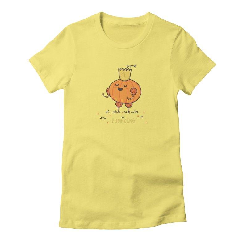 PUMPKING Women's Fitted T-Shirt by RiLi's Artist Shop