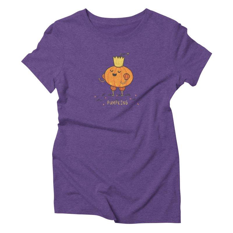 PUMPKING Women's Triblend T-Shirt by RiLi's Artist Shop