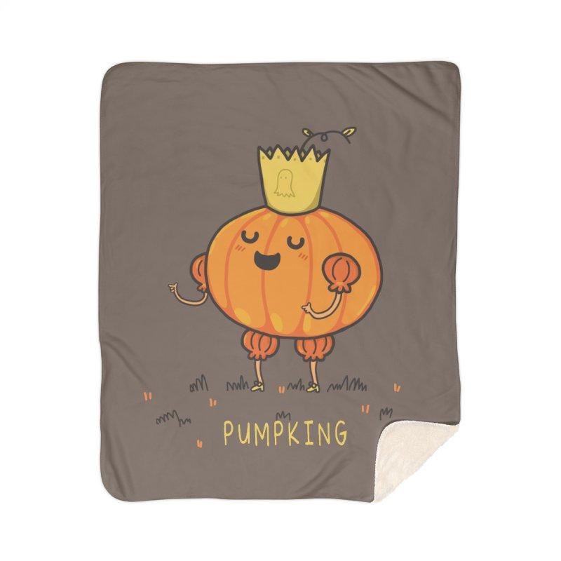 PUMPKING Home Sherpa Blanket Blanket by RiLi's Artist Shop